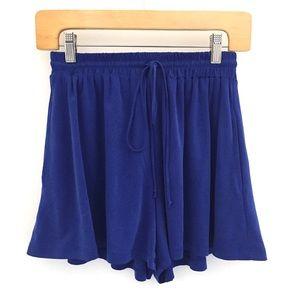 LUSH Royal Blue Lounge Shorts Sz XS